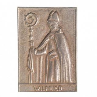 Namenstag Wilfried 8 x 6 cm Bronzeplakette