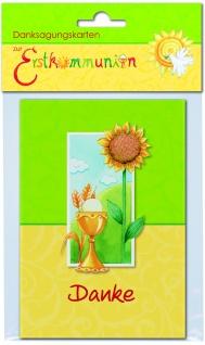Danksagungskarten zur Erstkommunion (6 Stck) Kommunion Kuvert