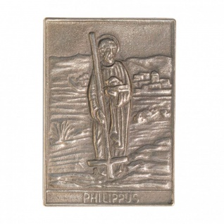 Namenstag Philippus 8 x 6 cm Bronzeplakette