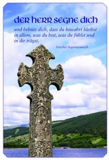 Segenskarte Der Herr segne dich (6 Stck) Grußkarte Irischer Segenswunsch Kuvert