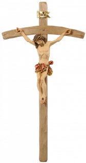 Holzkreuz Barock Kruzifix, Dornen Holzschnitzereien