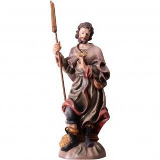 Heiliger Isidor Heiligenfigur geschnitzt antik handbemalt Südtirol Schnitzkunst