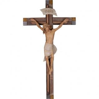 Besinnlicher Corpus mit Kreuz Holz Kruzifix geschnitzt Südtirol