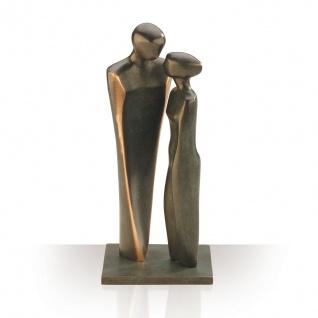 Bronzefiguren Verliebtes Paar 22 cm Skulptur Kött-Gärtner Paarskulptur Bronze