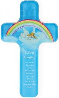 Kinderkreuz Lieber Engel 18 cm Acrylglas Wandkreuz Geschenk zur Kommunion