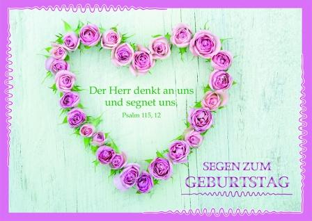 Postkarte zum Geburtstag Psalm Segen (10 Stck) Glückwunschkarte
