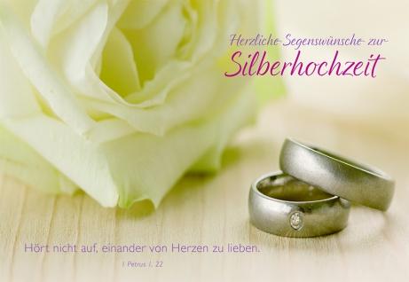 Hochzeitskarte Silberhochzeit Segenswünsche (6 St) Grußkarte Glückwunschkarte