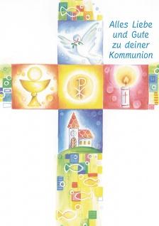 Kommunionkarte Alles Liebe Erstkommunion (6 Stck) Glückwunschkarte Kommunion