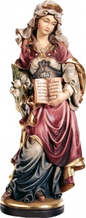 Heilige Tatjana mit Buch Holzfigur geschnitzt Südtirol Einsiedlerin oder Nonne