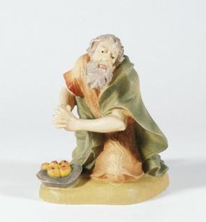 Krippenfigur Hirte kniend mit Früchten 14 cm Mesner-Krippe Krippen Figur - Vorschau