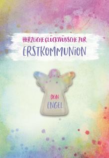 Glückwunschkarte Glasmagnet Herzliche Glückwünsche zur Erstkommunion (5 Stück)