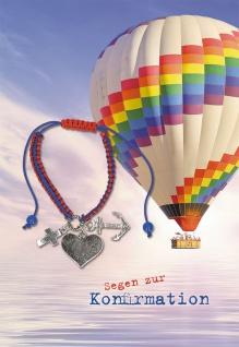Konfirmation Grußkarte Armband Segen Glaube Liebe Hoffnung (5 Stck) Psalm