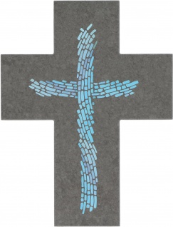 Schmuckkreuz Schiefer Kruzifix Geschenkverpackung Aufhängung Deko