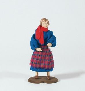 Hirtenmädchen Seiser-Krippe Holz 18 cm Krippen Figur Weihnachten