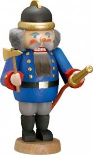 Nussknacker Feuerwehrmann 29 cm Holz-Figur Handarbeit aus Seiffen Erzgebirge