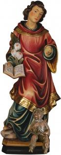 Heiliger Cyriacus mit Teufel Heiligenfigur Holz geschnitzt Schutzpatron