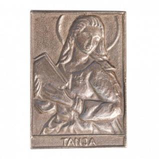 Namenstag Tanja 8 x 6 cm Bronzeplakette Bronzerelief Wandbild Schutzpatron