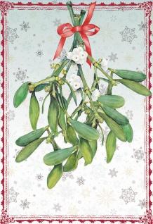 Glückwunschkarte Zauberhafte Winterzeit (6 Stück) Mistelzweig Grußkarte Kuvert