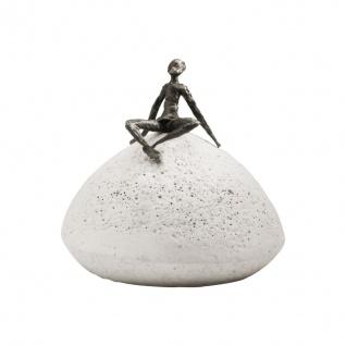 Bronzefigur Zeit der Entspannung 10 cm Bronze Kött-Gärtner Bronze Steinguss