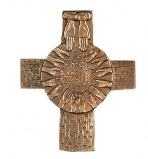 Wandkreuz Brot vom Himmel 9, 5 x 8 cm Erstkommunion Kommuniongeschenk Handarbeit