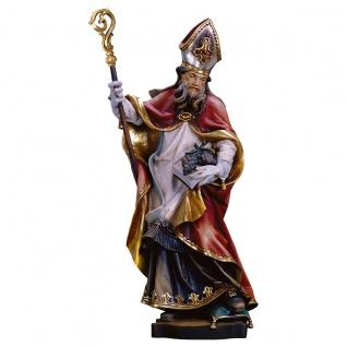 Heiliger Urban von Langres mit Trauben Heiligenfigur Holz geschnitzt