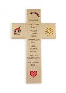 Kinderkreuz Leben und Liebe Buche Alle brauchen Dich 15 cm 20 cm Wandkreuz Holz