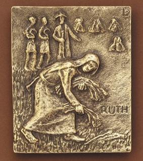 Namenstag Ruth Bronzeplakette 13 x 10 cm Bronzerelief Wandbild Schutzpatron