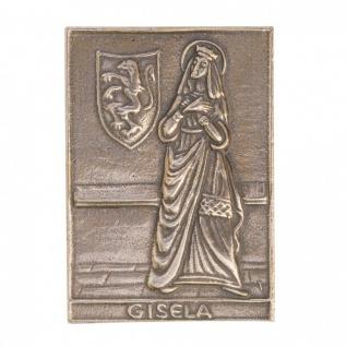 Namenstag Gisela 8 x 6 cm Bronzeplakette Bronzerelief Wandbild Schutzpatron