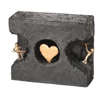 Bronzefigur Zueinander finden 15 cm Figur Kerstin Stark Bronzeskulptur Liebe
