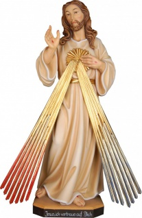 Jesus Barmherzigkeit Holz, geschnitzt handbemalt Südtiroler Schnitzkunst