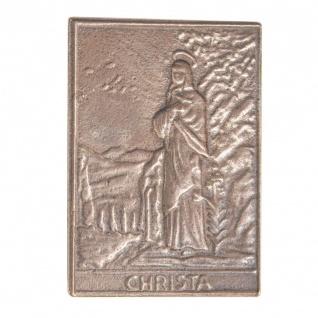 Namenstag Christa 8 x 6 cm Bronzeplakette Bronzerelief Wandbild Schutzpatron