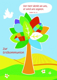 Kommunionkarte Zur Erstkommunion (6 St) Glückwunschkarte Erstkommunion Grußkarte
