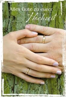 Hochzeitskarte Alles Gute zu eurer Hochzeit (6 St) Glückwunsch Kuvert Grußkarte