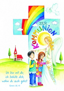 Kommunionkarte Zur Kommunion (6 Stck) Glückwunschkarte Erstkommunion Grußkarte