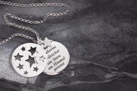 Taufe Stern-Anhänger Als du geboren 925 Silber Zirkonia 3-tlg, Silberkette - Vorschau 2
