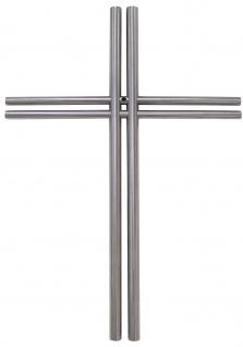 Wandkreuz Edelstahl schlicht Kreuz 38 x 27 cm Handarbeit Kruzifix Christlich