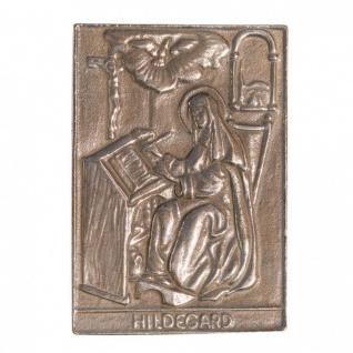 Namenstag Hildegard 8 x 6 cm Bronzeplakette Bronzerelief Wandbild Schutzpatron