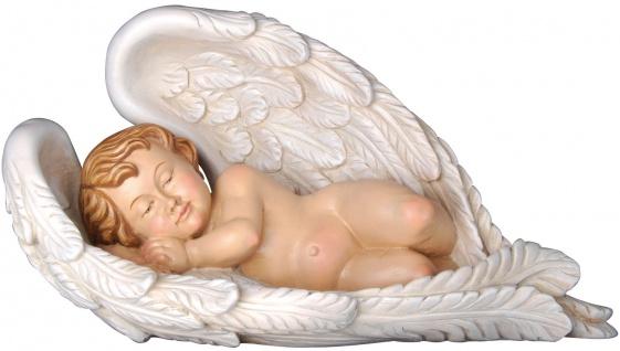 Engel der Geborgenheit Holzfigur geschnitzt Südtirol