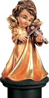 Weihnachtsengel mit Violine Holzfigur geschnitzt Südtirol