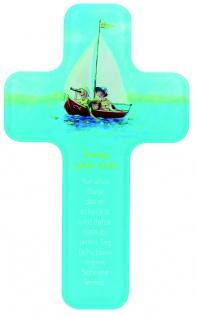 Kreuz für Kinder Dankgebet Acrylglas 18 cm Geschenkbox Kruzifix Kinderkreuz