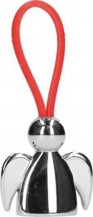 Schlüsselanhänger Engel mit rotem Kautschukband Geschenkverpackung 7, 5 x 3, 2 cm
