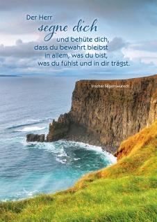 Postkarte Der Herr segne dich Irischer Segenswunsch 10 St Adressfeld Küste Gott