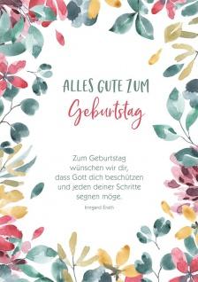 Postkarte Geburtstag 10 St Adressfeld Irmgard Erath Segen-Wunsch Gratulation