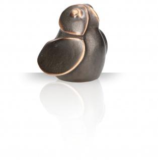 Bronzefigur Eule Herbert Fricke Patiniert Dekoration Bronze Aufstell-Figur