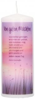 Stumpenkerze Trauer Dietrich Bonhoeffer Gedenken Glaube Vertrauen Trost Beileid