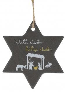 Schiefer-Anhänger Weihnachten Stern Krippe Stille Nacht Heilige Familie