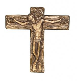 Wandkreuz Bronzekreuz Corpus Kreuz 13 x 12 cm Körper Korpus Kruzifix Ernst Alt