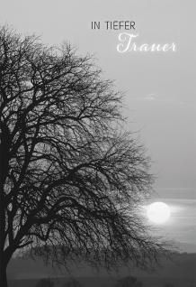 Trauerkarte In tiefer Trauer (6 Stck) Beileidskarte Psalm 23 Kondolenzkarte
