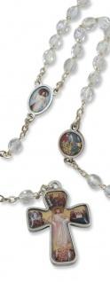 Rosenkranz Barmherziger Jesus Kristallglas 44 cm