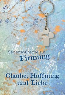 Glückwunschkarte Firmung Kreuz-Anhänger 5 St Kuvert Jochen Klepper Gott Glaube